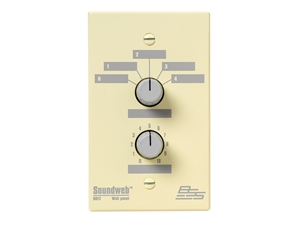 BSS SW9012UK, 5 position source/preset selector, level control (UK) wall controller