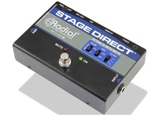 Radial Engineering StageDirect - Active DI w/ Mute footswitch