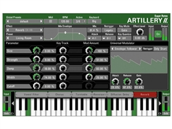 Sugar Bytes Artillery 2 Trigger Effects from MIDI keyboard