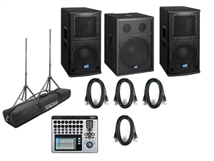 OPA 10, OPA Sub Speakers and QSC TouchMix16 Mixer System Bundle