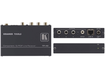 Kramer TP-42 - Component & S/PDIF Twisted Pair Receiver (Requires TP-41)