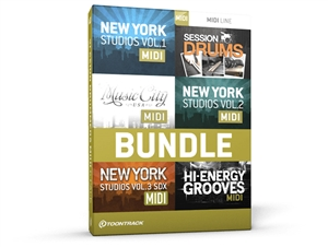 ToonTrack Session Drums MIDI 6 Pack