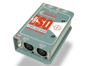 Radial Engineering Twin-iso 2-Channel Jensen-equipped Isolation Box