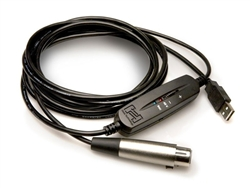 Hosa USX-110 Tracklink Microphone to USB Interface, XLR3F to USB Type A, 10 ft.