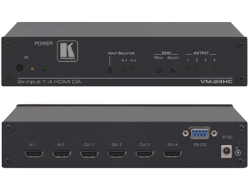 Kramer VM-24HC 2x1:4 HDMI Switcher & Distribution Amplifier