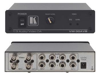 Kramer VM-30AVB - 1:3 (U) Audio & Video Distribution Amplifier (BNCs)