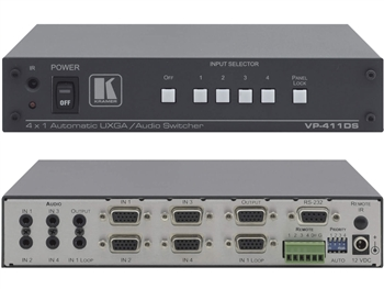 Kramer VP-411DS - 4x1 XGA Standby Switcher with Stereo Audio