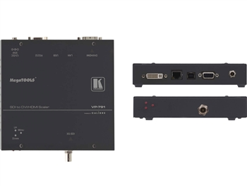 Kramer VP-791 - 3G HD-SDI to DVI/HDMI Digital HQV Scaler with Color Correction & Geometric Processing