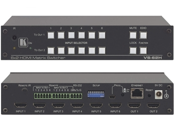 Kramer VS-62H - 6x2 4K HDMI Matrix Switcher