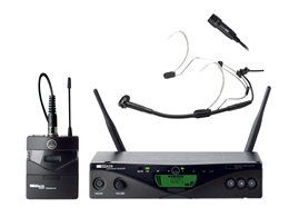 AKG WMS470 Presenter Set with CK99 lavalier, C555L headset mic