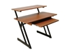 On-Stage WS7500RB Wood Workstation (Rosewood & Black Steel Finishes)