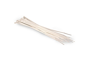 Hosa WTI-172 Plastic Wire Ties 20 pcs per pack. 8-inch White