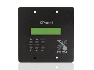 Xilica X-PANEL - Wall Panel with 2x16 LCD and 6 menu buttons