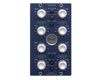 Elysia xfilter 500 - Linked stereo 500 Series EQ