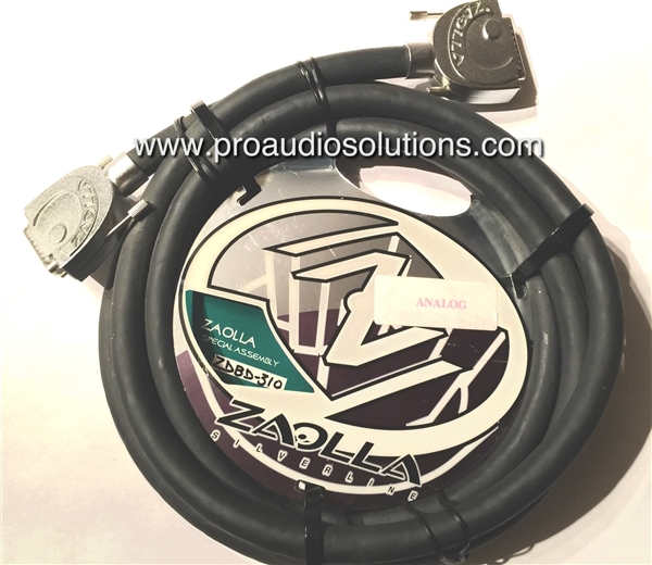 Zaolla Silverline ZDBD-305 Analog 8-Channel DB25 Male to DB25 Male 5 Ft.