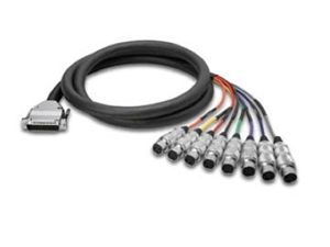Zaolla ZDX-810F Analog 8-Channel Snake Cable - DB25 to 8 XLRF, 10 Ft.