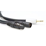 Zaolla ZSRC-203 Insert Cable. 1/4 TRS to XLRM/XLRF. 3 Ft.