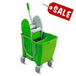 PRO/CARE Lime Green Divided Mop Bucket