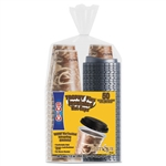 Bistro Design 12 Oz Hot / Cold Foam Drink Cups With Lids