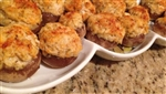 "Crab Stuffed Mushrooms - <span style=""color:#800000"">  $24.78 for 12 (2 oz)  *Weekly Special*</>"