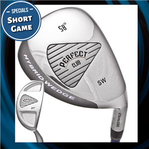 The Perfect Club Golf Short Game Package.  Hybrid wedge and Chipper combo
