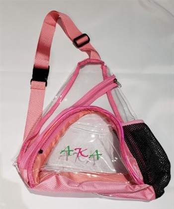 Clear Stadium Sling Bag with Bottle Holder