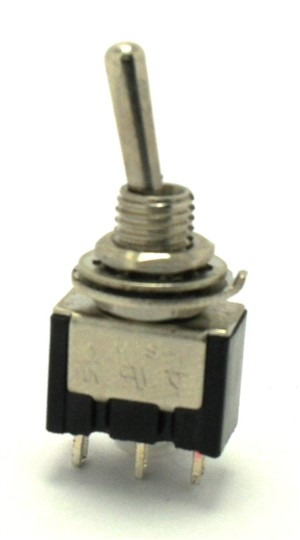 SPDT (ON)/OFF/(ON) Miniature Momentary Toggle Switch