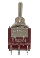 DPDT (ON)/OFF/(ON) Miniature Red Toggle Switch Momentary ON/OFF/Momentary ON