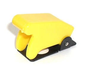 Yellow Toggle Switch Safety Cover