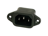 15A 250V Male Chassis POWER SOCKET, solder terminals