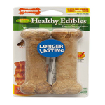 Nylabone Healthy Edibles Longer Lasting Bacon Wolf 2pk