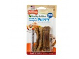 Nylabone Healthy Edibles Puppy Lamb & Apple Blister Card Petite 4ct