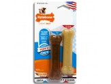 Nylabone Puppy Twin Pack Peanut Butter and Chicken Petite