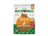 Nylabone Healthy Edibles Biscuits Dog Treats Peanut Butter & Apple 12oz