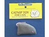 Dr. Daniels' Gray Flannel Catnip Mouse