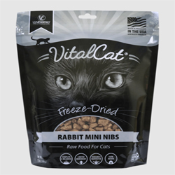 Vital Essentials Vital Cat Freeze-Dried Rabbit Mini Nibs Entre 12oz