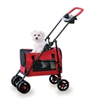 Four Paws 3 in 1 Pet Stroller Red