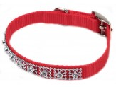 Coastal Nylon Jeweled Collar Red 3/8X10in
