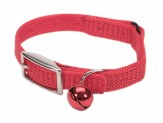 Coastal Sassy Snag-Proof Nylon Safety Cat Collar Red 3/8X12in