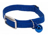 Coastal Sassy Snag-Proof Nylon Safety Cat Collar Blue 3/8X12in
