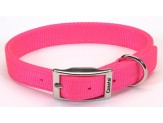 Coastal Double-Ply Nylon Collar Neon Pink 1X18in