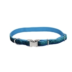 "Coastal Pet Pet Attire Sparkles Adjustable Collar, 5/8"" blue x 12"" - 18"""