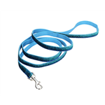 "Coastal Pet Pet Attire Sparkles Leash, 5/8"" blue x 6'"