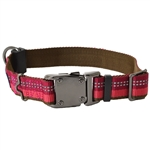 "Coastal K9 Explorer 5/8"" ADJ COLLAR   Berry Red (10-14"")"