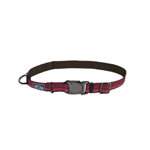 "Coastal K9 Explorer 1"" Adj Collar  Berry Red  (18-26"")"