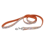 "Coastal Pet-Pet Attire Ribbon Nylon Leash, 5/8"" x 6'   Dots"