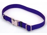 Coastal Adjustable Nylon Collar with Titan Metal Buckle Blue 3/4X14-20in