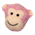Coasta Lil Pals Fleece Monkey Face Dog Toys