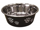 Ethical Products Barcelona Stainless Steel Paw Print Bowl Licorice 32oz