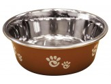 Ethical Products Barcelona Stainless Steel Paw Print Bowl Copper 16oz